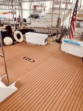 8 Little Red 1984 Grand Banks 49 MY aft deck 1