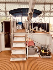 9 Little Red 1984 Grand Banks 49 MY Aft deck to Flybridge