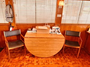 29.1 Little Red 1984 Grand Banks 49 MY dinette