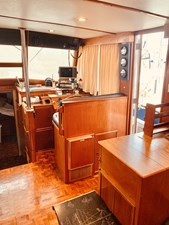 32 Little Red 1984 Grand Banks 49 MY lower helm 1