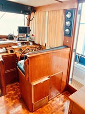 33 Little Red 1984 Grand Banks 49 MY lower helm 2