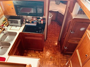 43 Little Red 1984 Grand Banks 49 MY Galley 8