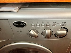 45.1 Little Red 1984 Grand Banks 49 MY Washer Dryer Combo