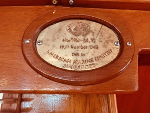 103 Little Red 1984 Grand Banks 49 MY plaque