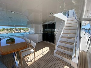 2011 Cheoy Lee 103' 103 Cockpit Motor Yacht - Blue Steele - Aft Deck