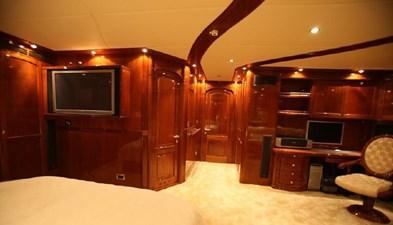Motor sailing yacht master bedroom