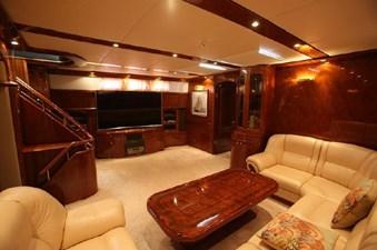 Motor sailing yacht saloon