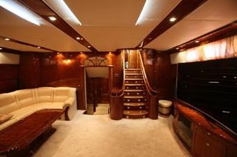 Motor sailing yacht staircase