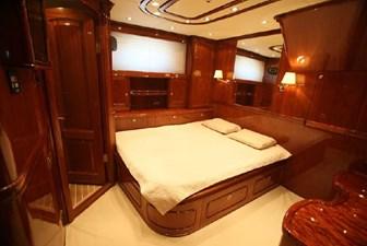 Motor sailing yacht VIP guest cabin