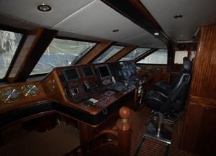 Motor sailing yacht Ocean Star helm position