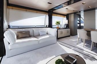 Salon sofa on port side