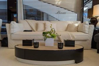 Salon sofa on starboard side