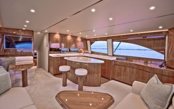 Salon Starboard Side Galley View