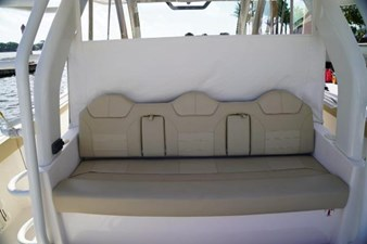Rear facing aft seat with AC vents