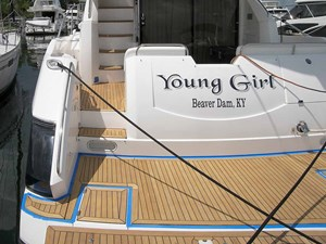 Young Girl 49 New Teak decking installed June 2021