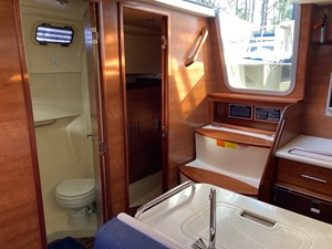 Companionway and doors to head and aft cabin