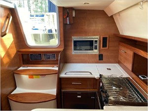 Galley, companionway & aft head & cabin access