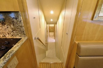 Companion way to lower staterooms