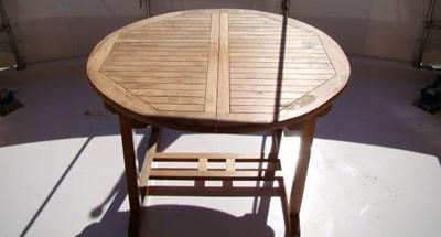 60. Sun Deck Teak Table