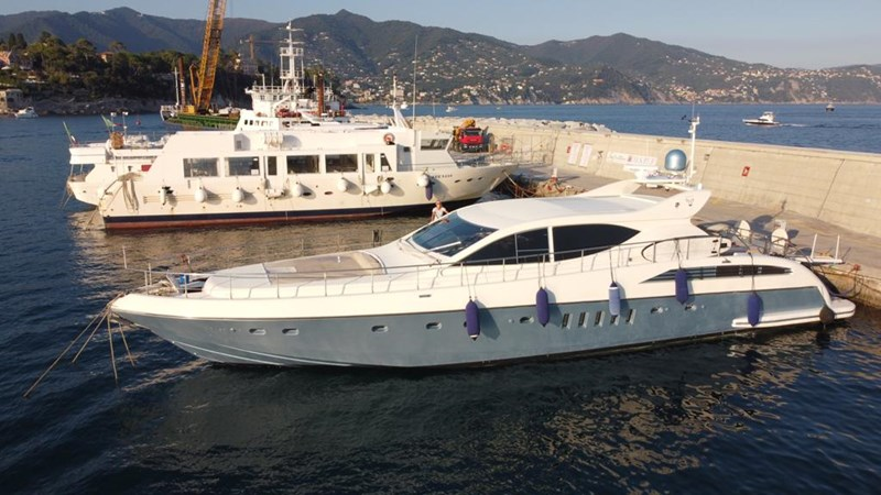 Yacht berthed