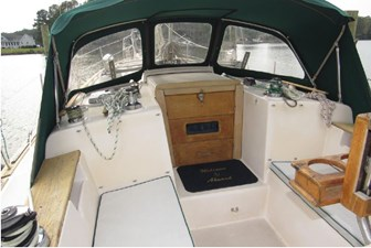 Dodger, companionway and secondary winches