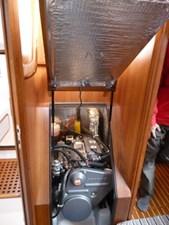 Easy engine access under companionway