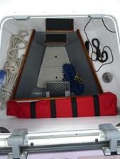 Large bow locker, bow thruster, and watertight bulkhead