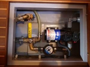 Deck washdown pump with fresh/salt water valve