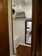 Aft shower and door to work shop