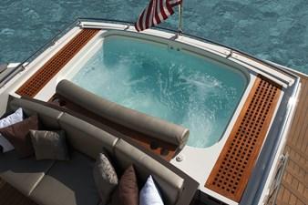 Alpha aft deck hot tub