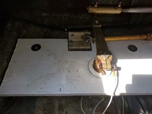 New rudder bearing and shpport table (starboard)