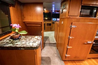 Quiet Storm 9 Galley Looking at Pilothouse