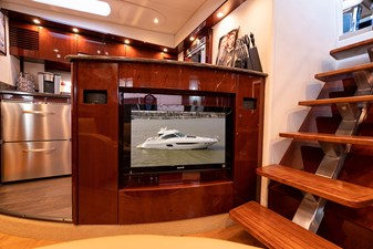 Entertainment center at the lower salon