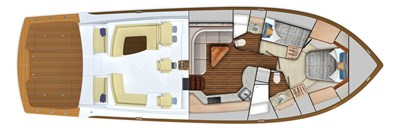 2022 VIKING 54 SPORT COUPE (TBD) 4 Cabin Layout (2-Stateroom Option)