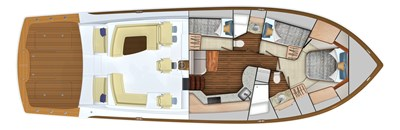 2022 VIKING 54 SPORT COUPE (TBD) 5 Cabin Layout (3-Stateroom Option)