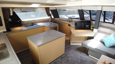 BLOW FISH Fountaine Pajot Saba 50 2015 Salon and Galley