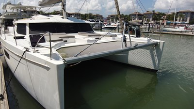 BLOW FISH Fountaine Pajot Saba 50 2015 Bow view