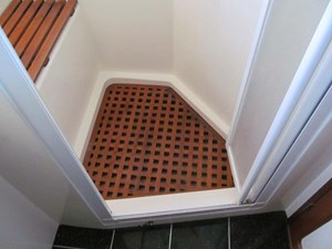 Master Shower Seat and Grate