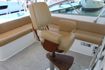 Upgraded helm seat, new helm deck cushions