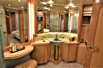 Her Side Of His and Hers Master Bath