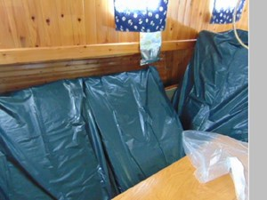 Cushions Wrapped for Storage