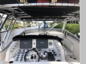 The Helm Raymarine Have Been Replaced With Garmin Electronics