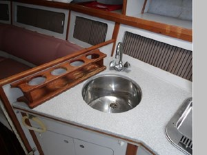 Stainless Steel Sink and Liquor Rack