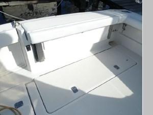 Transom Seat Folded Up
