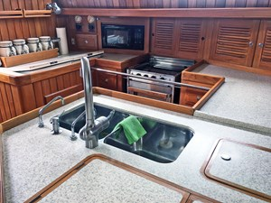 Galley Counter, Sinks, Stove and Storage