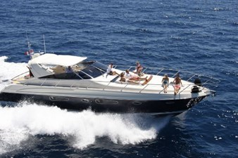 Eight and a Half 6 Riva 59 Sister Blue Hull Running Stbd