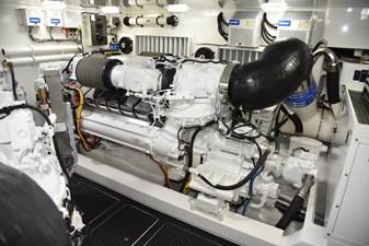 Team Galati 76 2017 Viking 80 Skybridge - Team Galati - Engine Room