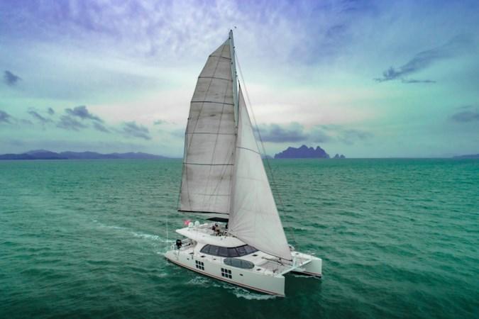 Sailing ariel aft view