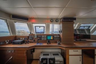 Main deck navigation and interior helm station
