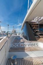 OCEAN VIBES 37 Aft Deck Stairs